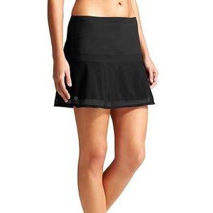 Athleta Upbeat Mesh Overlay Black Skirt